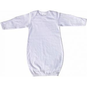 Custom White Interlock Infant Gown