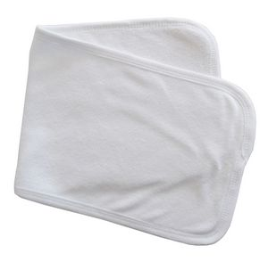 Custom Solid White 2-Ply Terry Burp Cloth