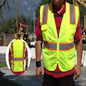 2-Tone ANSI Class 2 Mesh Surveyors Safety Vest