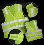 Custom ANSI 107-2010 Class 2 Neon Green Poly Mesh Safety Vest