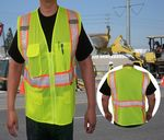 Custom ANSI Class 2 Safety Vest w/ Segmented Tape