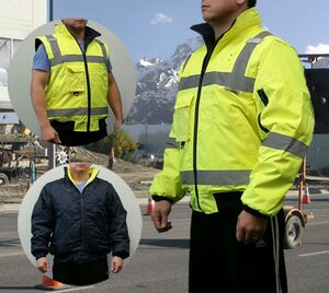 Reversible Bomber Safety Jacket 3 In 1