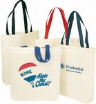 Custom Canvas Shopping Tote Bag w/Gusset & 22