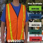 Custom Economy Neon Orange Mesh Safety Vest