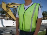 Custom Economy Light Weight Poly Mesh Neon Green Safety Vest