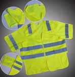 Custom ANSI 107-2010 Class 3 Neon Green Break-Away Safety Vest