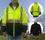 Custom ANSI Class 3 Bomber Safety Jacket w/Fleece Jacket