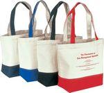 Custom Canvas Tote Bag w/ Inside Pocket & Velcro Closure