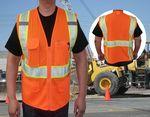 Custom ANSI Class 2 Safety Vests Segmented Tape