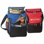 Custom 2 Compartment Deluxe Lunch Cooler Bag w/ Front and Side
