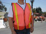 Custom Economy Light Weight Poly Mesh Neon Orange Safety Vest