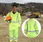 Custom Safety Rain Jacket ANSI Class 3