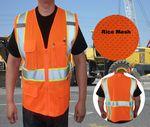 Custom ANSI Class 2 Safety Vest Rice Mesh