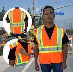 Custom 5 Point Breakaway Class 2 Safety Vest - Orange