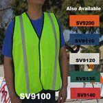 Custom Economy Neon Green/ Yellow Mesh Safety Vest
