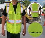 Custom ANSI Class 2 Safety Vest Rice Mesh