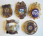 Custom Metal Law Badge