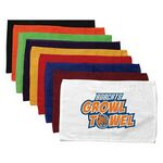 Custom Terry Loop Hemmed Finger Tip Towel - White