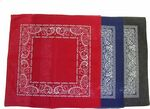 Custom 100% Micro-Polyester Open Center Paisley Bandanna