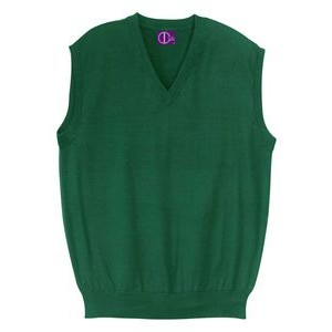 Classic V-Neck Vest, Fine Gauge, Acrylic. Unisex. Made in USA