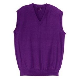 Custom Colors. Classic V-Neck sleeveless pullover, Fine Gauge, Acrylic, Men-Unisex. Made in USA