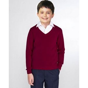 School Uniforms V-neck Pullover, youth sizes. Made in USA