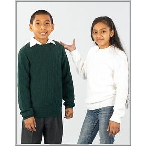 Youth 100% Cotton Crew Neck Pullover Long Sleeve. School Uniforms