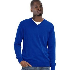 Classic Long Sleeve V-Neck Pullover - Acrylic. Men/Unisex. Made in USA