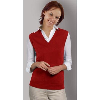 da4fd033218425 Women s Acrylic V-Neck Sleeveless Sweater-Vest. Acrylic.