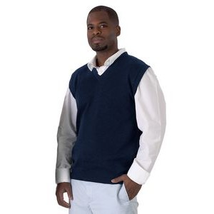 V-neck Vest, Cotton, Man-Unisex XS-5XL. Made in USA