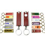 Custom Mini Flash Light with Super Bright LED & Swivel Key Chain (Burgundy Red)