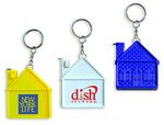 Custom House Shape Tape Measure Key Chain