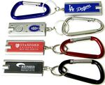 Custom Rectangular Flashlight Key Chain with 70 Mm Carabiner