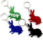 Custom Rabbit Shape Bottle Opener with Key Chain