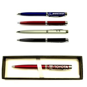 3-In-1 Ballpoint Pen with Laser Pointer & LED Flashlight in Gift Case