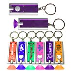 Custom Slim Rectangular Flash Light with Colorful Light - Purple