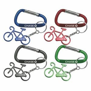 Bicycle Shape Bottle Opener with Key Chain & Carabiner