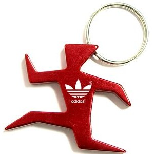 Runner Shape Bottle Opener with Key Chain