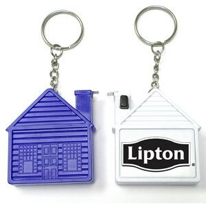 House Shape Tape Measure with Key Chain / Deluxe with Stopper