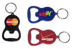 Custom Round Bell Shape Plain Bottle Opener with Key Ring