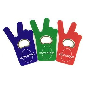 Jumbo Size V Sign / Finger Bottle Shape Magnetic Bottle Opener