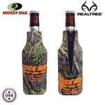 Custom Mossy Oak Camo Premium Collapsible Foam Bottle Insulators w/ Zipper