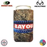 Custom Premium Mossy Oak or Realtree Full Color Dye Sublimated Collapsible Foam Can Insulator