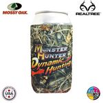 Custom Premium Mossy Oak or Realtree Full Color Dye Sublimated Collapsible Neoprene Can Insulator