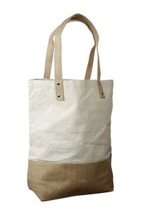 Custom Cotton Tote Bag with Jute Trim & Handles