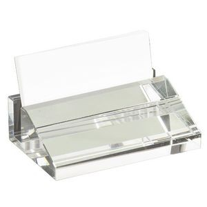 Engraved Crystal Business Card Holder