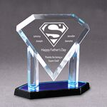 Custom Acrylic Diamond Plaque Award-Blue Mirror-9.75