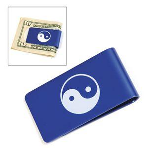 Blue Metal Money Clip