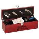 Custom Engraved Burlwood High Gloss Finish Wine Box With Tools