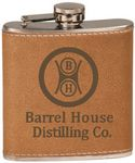 Custom 6 Oz. Leather Flask